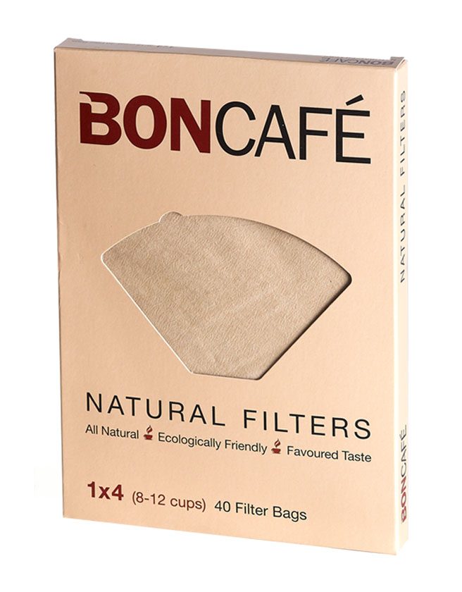 Boncafé  - Natural Coffee Filters Bags/Paper 1x4 (8-12 cups)