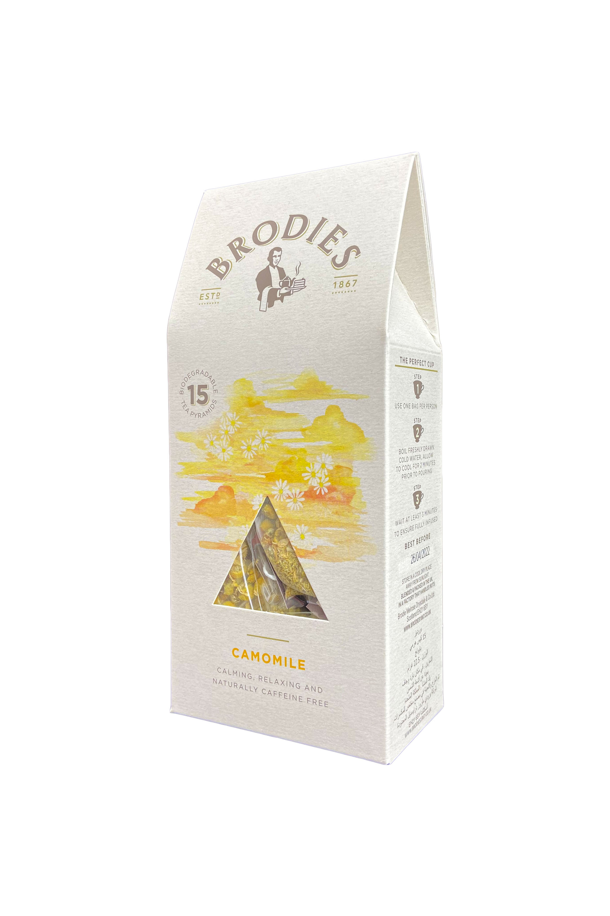 BRODIES - CAMOMILE PYRAMID TEA BAG