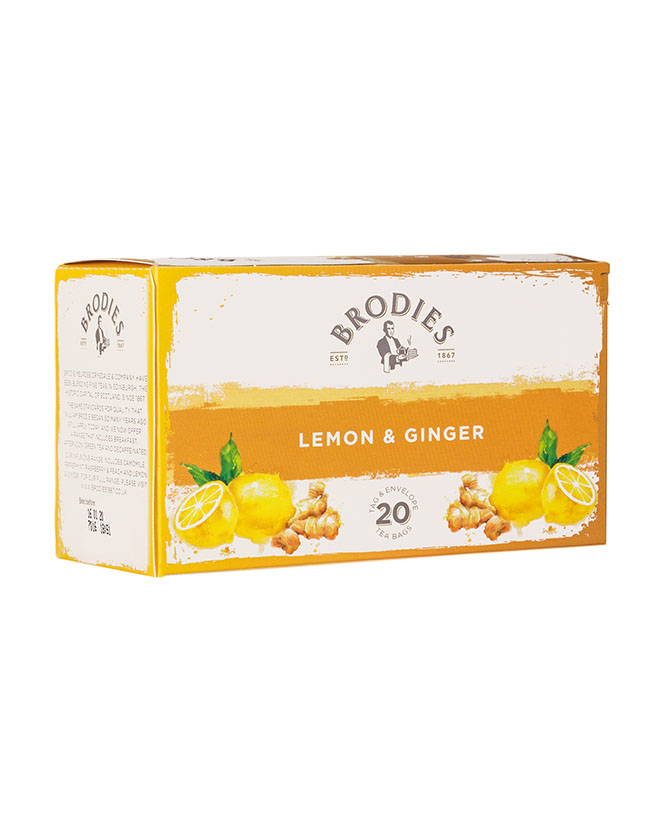 BRODIES - LEMON & GINGER TEA