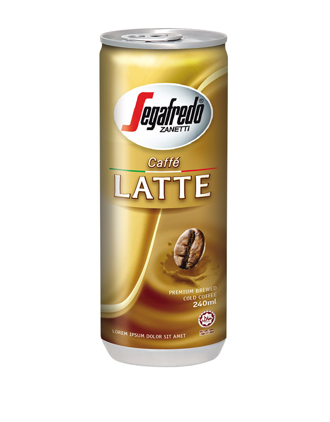 SEGAFREDO ZANETTI - LATTE CANNED COFFEE
