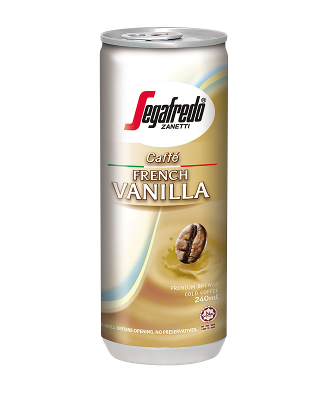 SEGAFREDO ZANETTI - FRENCH VANILLA CANNED COFFEE