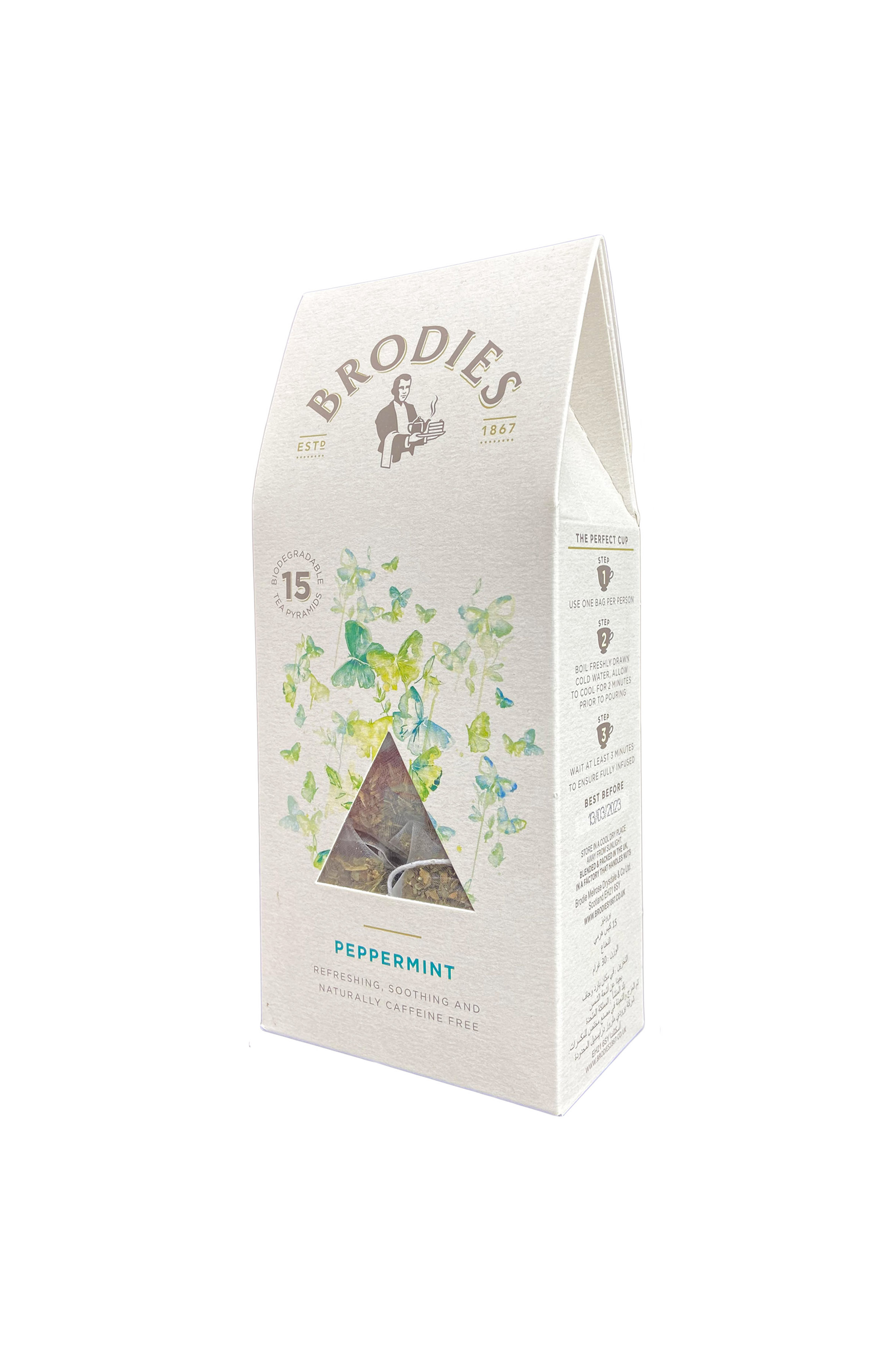 BRODIES - PEPPERMINT PYRAMID TEA BAG