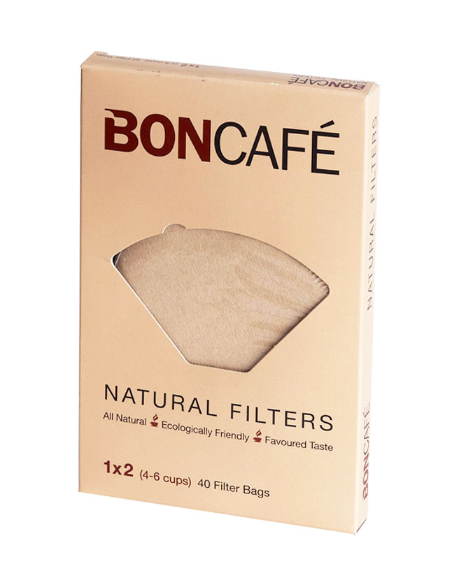 BONCAFÉ - NATURAL COFFEE FILTERS BAGS/PAPER 1x2 (4-6 CUPS)
