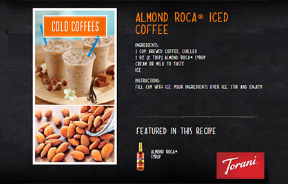 Almond Roca Iced Coffee